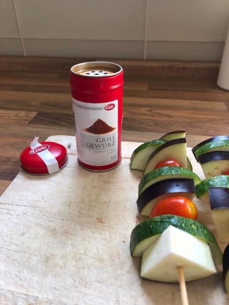 Caelo Grillgewürz Gemüsespieße