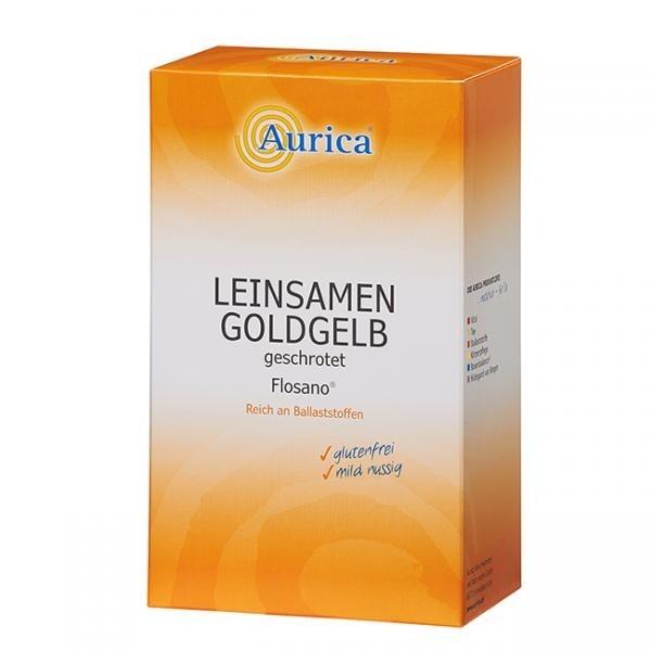 Aurica Leinsamen Goldgelb geschrotet
